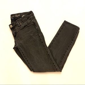 American Eagle Gray Distressed Skinny Jeans